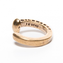 Railroad Spike Ring(Gold)